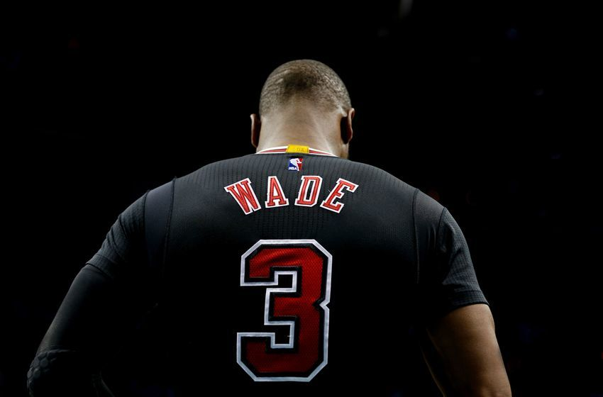 Dec 23, 2016; Charlotte, NC, USA; Chicago Bulls guard Dwyane Wade (3) stands on the court prior to the game against the Charlotte Hornets at Spectrum Center. The Hornets defeated the Bulls 103-91. Mandatory Credit: Jeremy Brevard-USA TODAY Sports