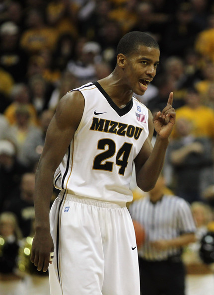Kim English Kim English #24 of the Missouri Tigers reacts after scoring during the game against of the Vanderbilt Commodores on December 8, 2010 at Mizzou Arena in Columbia, Missouri.