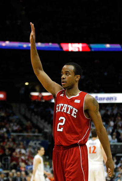 Lorenzo Brown Lorenzo Brown #2 of the North Carolina State Wolfpack celebrates after a play against the Virginia Cavaliers during the Quarterfinals of the 2012 ACC Men's Basketball Conferene Tournament at Philips Arena on March 9, 2012 in Atlanta, Georgia.