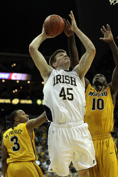 Jack Cooley Jack Cooley #45 of the Notre Dame Fighting Irish shoots during the Progressive CBE Classic game against the Missouri Tigers on November 21, 2011 at the Sprint Center in Kansas City, Missouri.