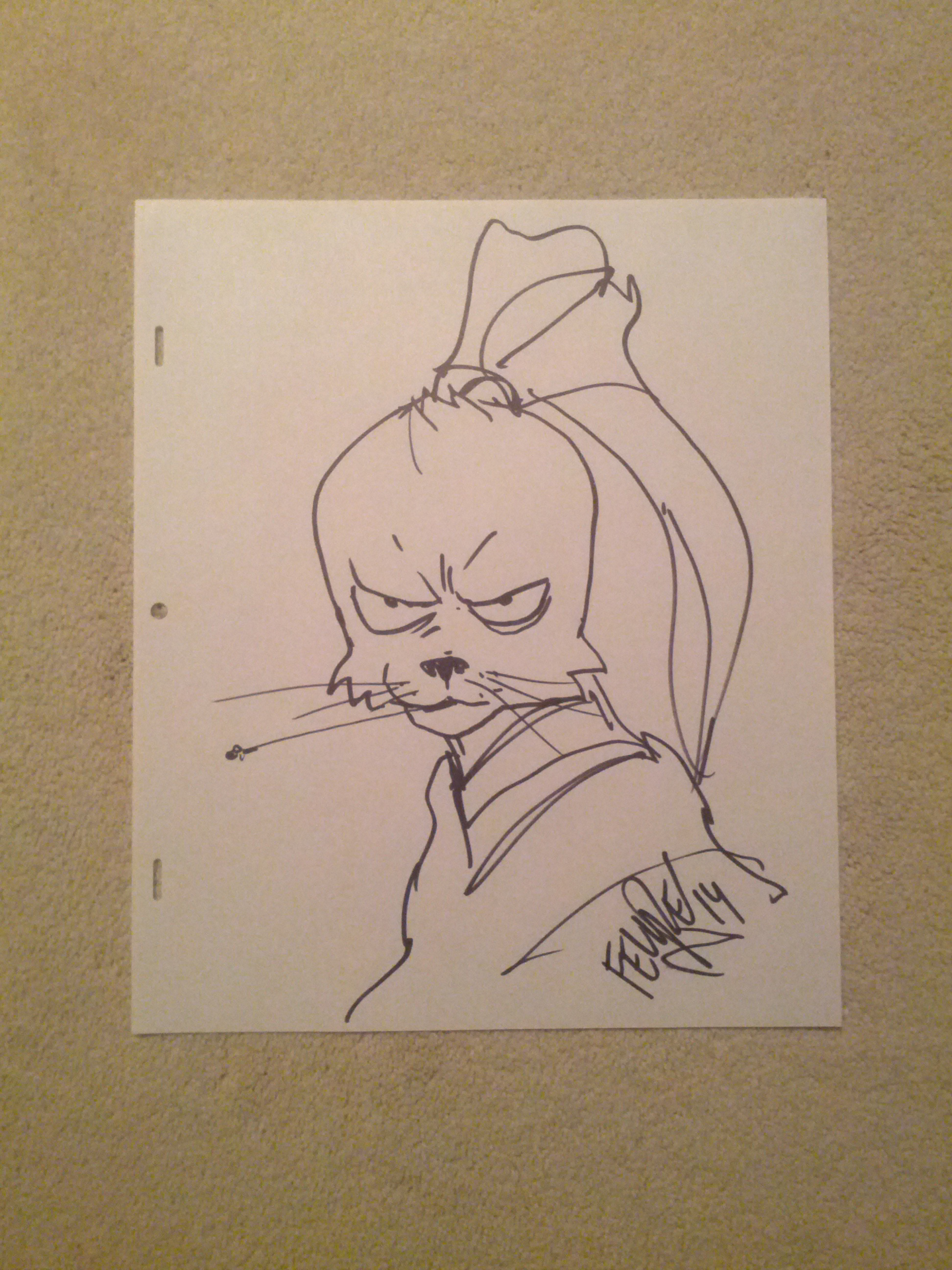 Felipe_Smith_Usagi_Yojimbo_Drawing