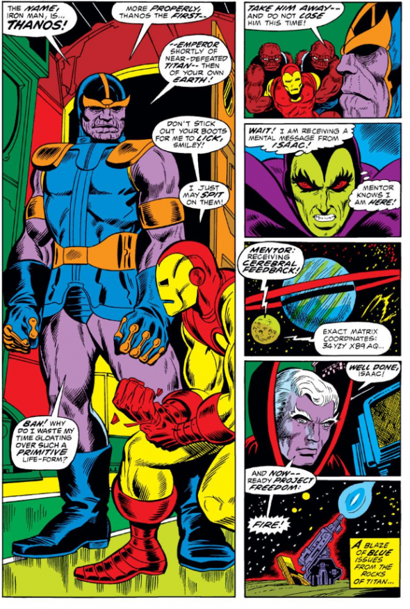 Gotg First Appearance Of Thanos And Drax The Destroyer