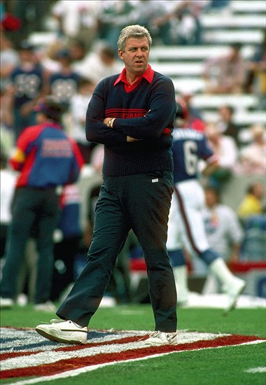 Jan 27, 1991; Tampa, FL, USA; FILE PHOTO; New York Giants head coach Bill Parcells prior to the start of Super Bowl XXV against the Buffalo Bills at Tampa Stadium. The Giants defeated the Bills 20-19. Mandatory Credit: Photo by US PRESSWIRE (c) Copyright 1991 US PRESSWIRE