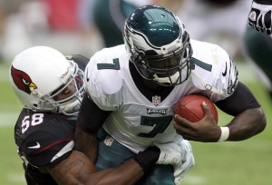 One of the 5 sacks the Cardinals defense had on Michael Vick