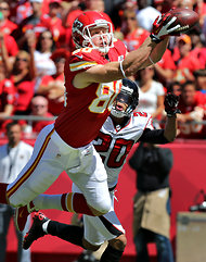 Kevin Boss of the Kansas City Chiefs