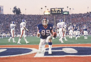 Mark Bavaro Touchdown in Super Bowl XXI