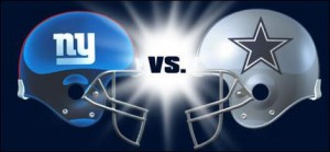 New York Giants Versus Dallas Cowboys