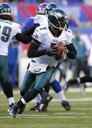 Michael Vick did it with both his arm and his legs on Sunday, racking up over 450 total yards and 3 TDs.