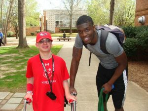 Corey Washington and his #1 fan, Mathew. Credit: proplayerinsiders.com