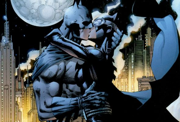 Hush Batman and Catwoman Kiss