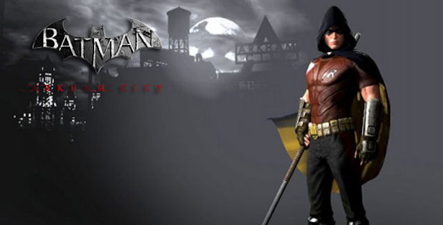 Arkham City Robin Figure from Square EnixRobin Arkham City Hood