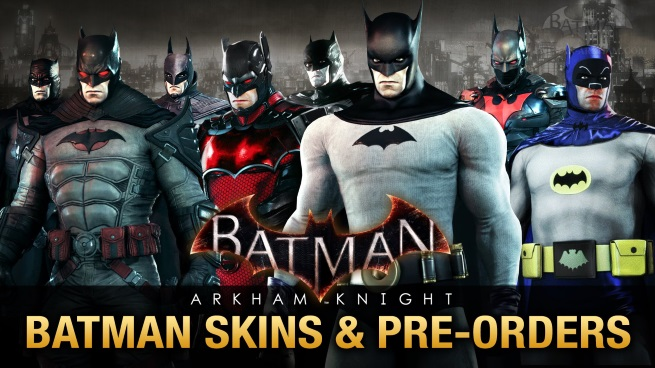 arkham knight all the skins amp preorder bonuses
