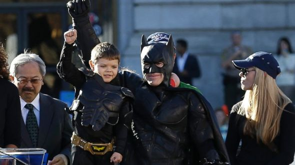 Batkid saving the city of San Francisco.