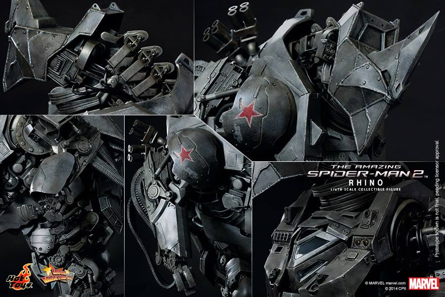 Hot Toys reveal awesome Amazing Spider-Man 2 Rhino figure