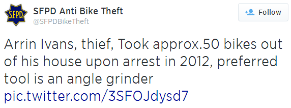 Source: @SFPDBikeTheft