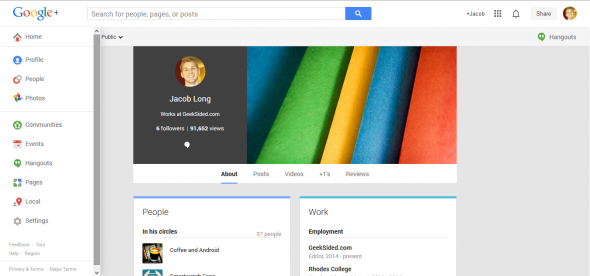 The current Google Plus design shares some similarities with the potential Gmail refresh.