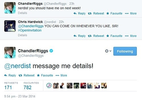Chandler Riggs Tweets About The Talking Dead