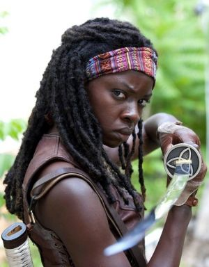 Michonne with a katana from The Walking Dead