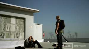 Chase and Harris on the roof of webisode 1 of Cold Storage titled Hide and Seek.