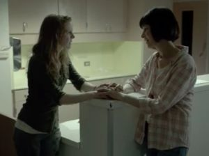 "Karina and Gale in the hospital in The Walking Dead webisode Choice from ""The Oath"""