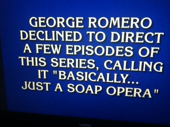 Final Jeopardy question about The Walking Dead and George Romero