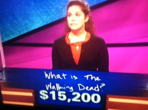 Correct answer from Jeopardy! on a question about The Walking Dead and George Romero.