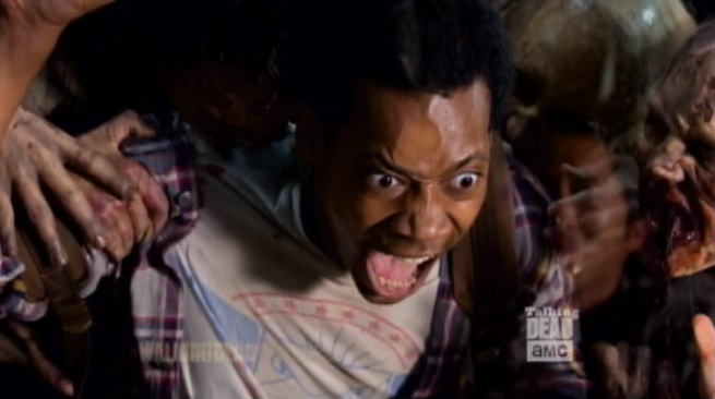 The Walking Dead Watch Noah Get His Face Ripped Off Try