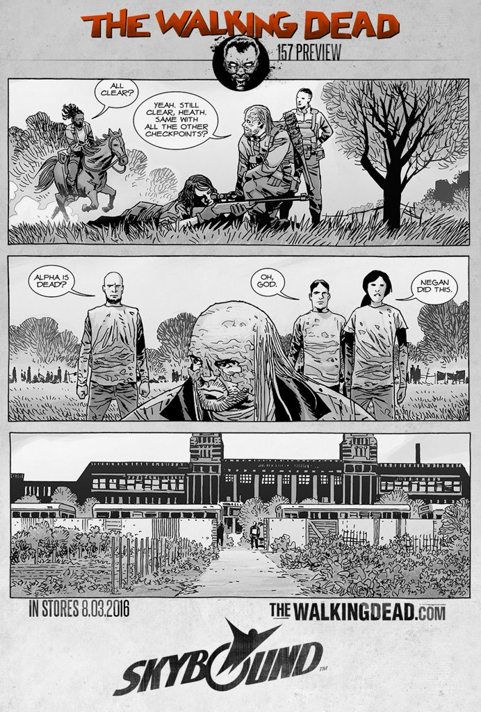 The Walking Dead 157 preview panels - Image Comics and Skybound Entertainment