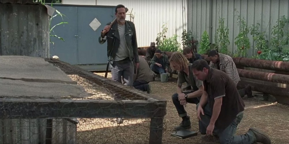 the walking dead does negan really trust dwight. Black Bedroom Furniture Sets. Home Design Ideas