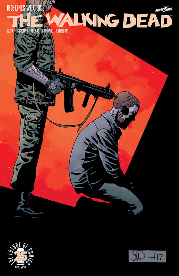 The walking dead comic issue 169 cover analysis lines we cross