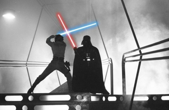 Luke Skywalker versus Darth Vader, from Star Wars: Episode V