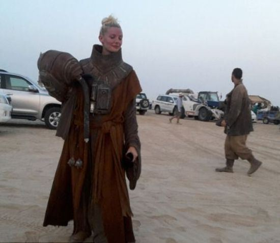 A leaked photo from Star Wars: Episode VII's Tatooine.