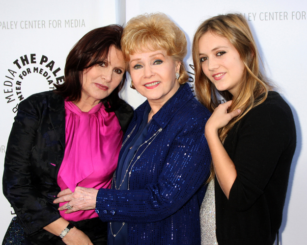 Carrie Fisher, Debbie Reynolds e Billie Lourd