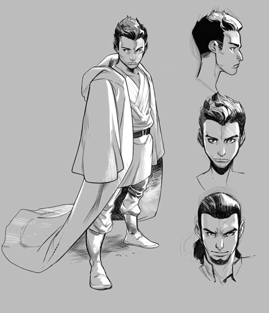 Force Character Design From Life Drawing Pdf Download : First look sketches of kanan the last padawan