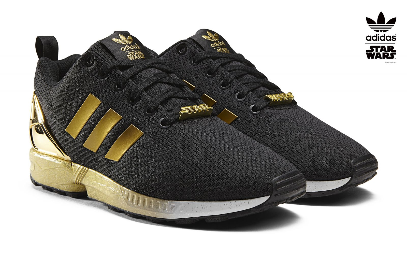 Gold Star Black Shoes