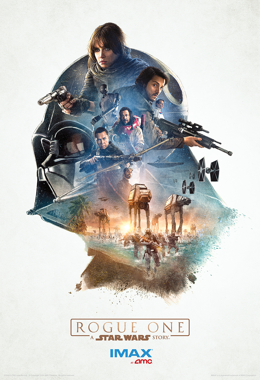 amc theatres to give away three exclusive rogue one posters. Black Bedroom Furniture Sets. Home Design Ideas