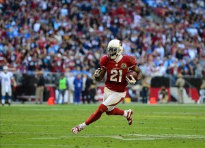 Dec. 16, 2012; Glendale, AZ, USA: Arizona Cardinals cornerback Patrick Peterson against the Detroit Lions at University of Phoenix Stadium. Mandatory Credit: Mark J. Rebilas-USA TODAY Sports