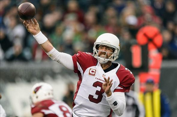 Dec 1, 2013; Philadelphia, PA, USA; Arizona Cardinals quarterback Carson Palmer (3) passes the ball during the fourth quarter against the Philadelphia Eagles at Lincoln Financial Field. The Eagles defeated the Cardinals 24-21. Mandatory Credit: Howard Smith-USA TODAY Sports