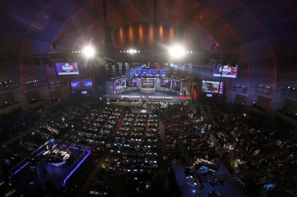 Apr 25, 2013; New York, NY, USA; General view of Radio City Music Hall during the 2013 NFL Draft. Mandatory Credit: Brad Penner-USA TODAY Sports