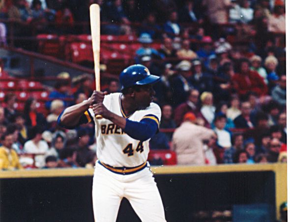 Hank Aaron's record-breaking 25th All-Star Game selection came in 1975 as a Milwaukee Brewer ... at County Stadium.