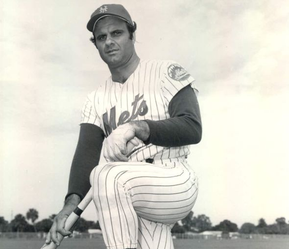 Joe Torre, a Brooklyn native, finished his 18-year playing career with the New York Mets.