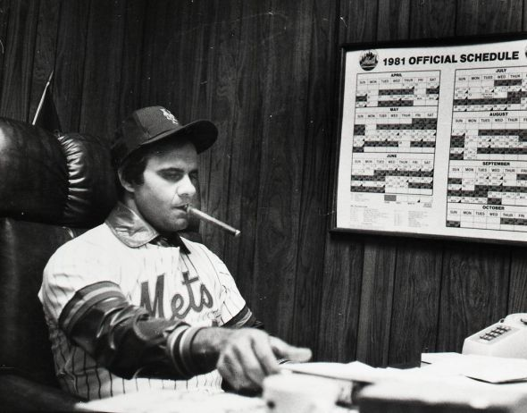 Torre was released as a player by the Mets and hired to manage the team on the same day.