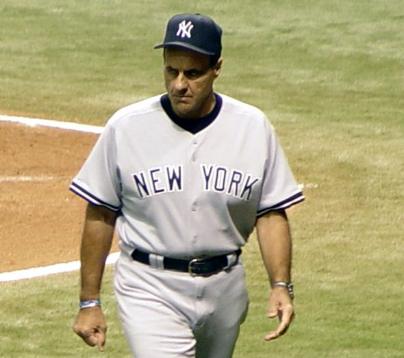 Joe Torre was George Steinbrenner's longest-tenured manager, serving 12 years in the Bronx. He won six pennants and four World Series titles with the Yankees. (This file is licensed under the Creative Commons Attribution-Share Alike 3.0 Unported license.)