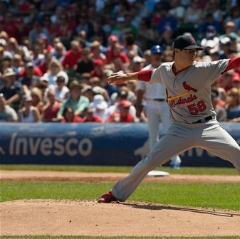 Joe Kelly Tosses Against The Cubs Photo Courtesy: Charles Cherney AP
