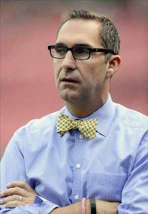 Oct 10, 2013; St. Louis, MO, USA; St. Louis Cardinals general manager John Mozeliak looks on during batting practice the day before game one of the National League Championship Series against the Los Angeles Dodgers at Busch Stadium. Image Credit: Jeff Curry-USA TODAY Sports