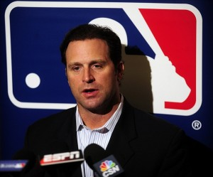 Dec 10, 2013; Orlando, FL, USA; St. Louis Cardinals manager Mike Matheny talks with reporters during the MLB Winter Meetings at the Walt Disney World Swan and Dolphin Resort. Image Credit: David Manning-USA TODAY Sports