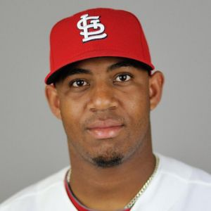 Feb 24, 2014; Jupiter, FL, USA; St. Louis Cardinals player Oscar Taveras (77) during photo day at Roger Dean Stadium. Image Credit: Steve Mitchell-USA TODAY Sports