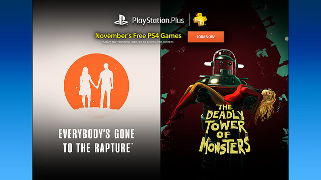 November's PlayStation Plus games