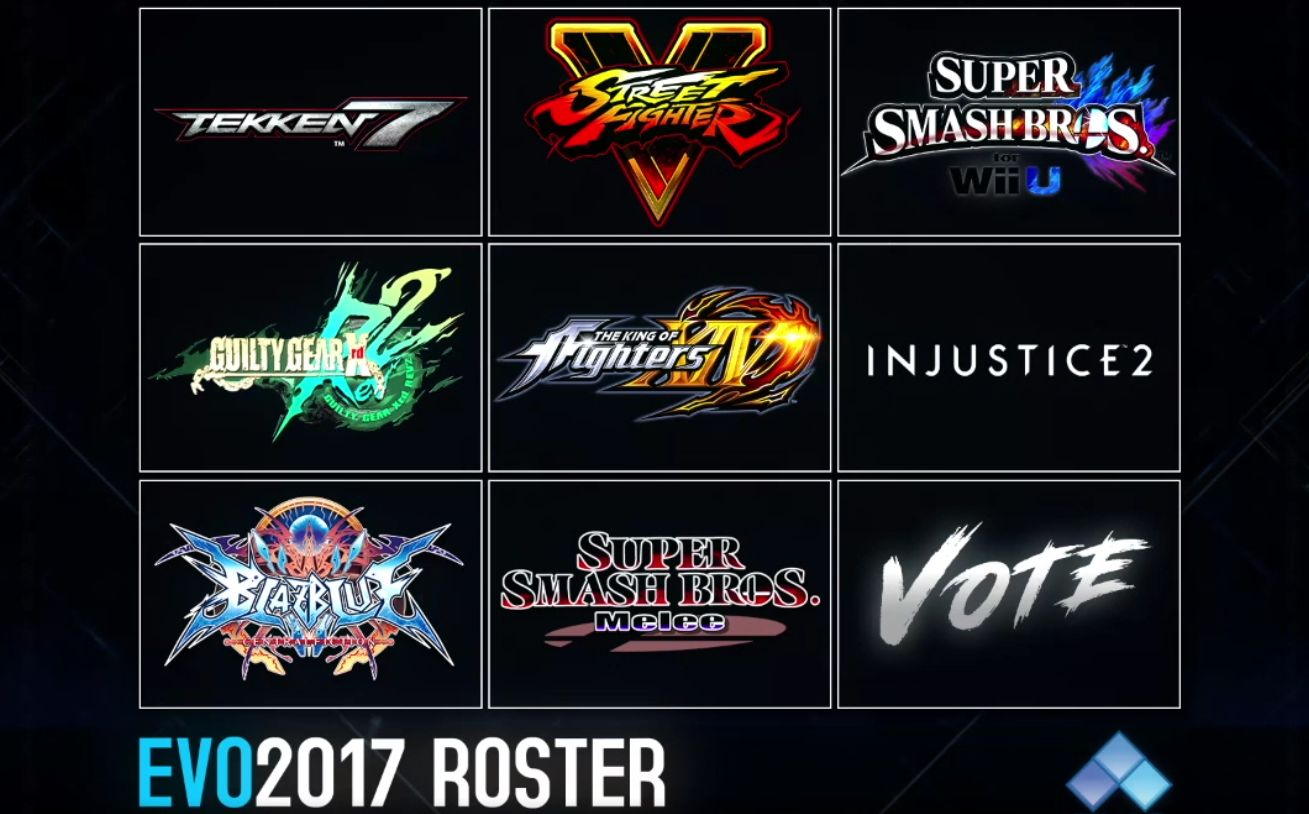 Evo 2017 Logo >> Evo 2017 Lineup Of Fighting Games Has Been Announced