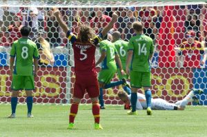 Will Kyle Beckerman make this pose with the shield at season's end?